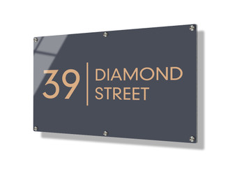 Business sign 50x75cm - Clean lines