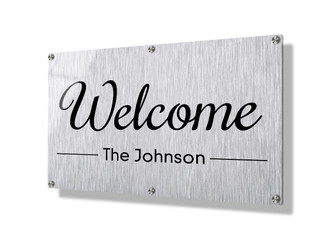 Business sign 50x75cm - Metallic lines