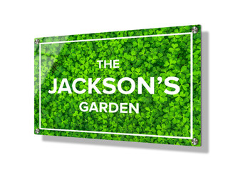 Business sign 20x30cm - Green Clover