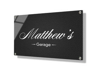 Business sign 20x30cm - Steel mesh