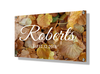 Business sign 20x30cm - Autumn leaves