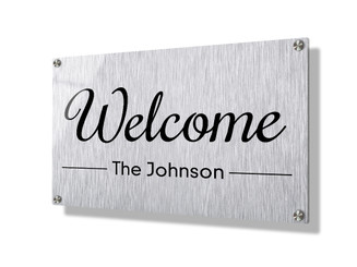 Business sign 20x30cm - Metallic lines