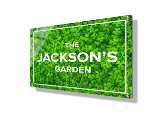 Business sign 15x20cm - Green Clover