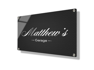 Business sign 15x20cm - Steel mesh
