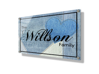 Business sign 15x20cm - Blue denim