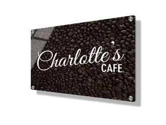 Business sign 15x20cm - Coffee beans