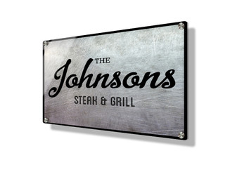 Business sign 15x20cm - Scratch Metallic