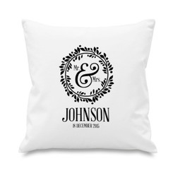 Cushion cover - Mr & Mrs - Wreath