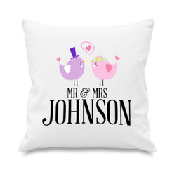 Cushion cover - Mr & Mrs - Birds