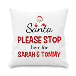 Cushion cover - Christmas - Santa please stop