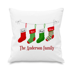 Cushion cover - Christmas stockings - 4 names