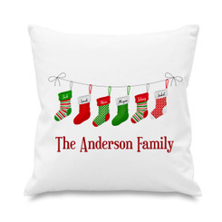 Cushion cover - Christmas stockings - 6 names