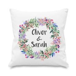 Cushion cover - Couple - Watercolour Wreath