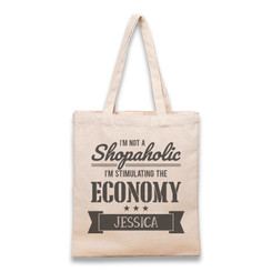 Tote Bag - Not a shopaholic