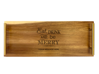 Personalised Serving Tray - Eat and Drink