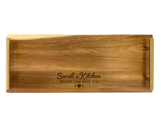 Personalised Serving Tray - Kitchen Love