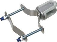 Porcelain Wire Holder w/ Steel Clip (610)