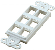 6 Port White Decorator Keystone Wall Plate (TA-1106WH)