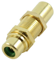 RCA Coupler with Green Insert (CA-2219GN)