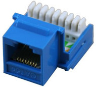 Cat 5E RJ45 110 Type 90 Keystone - Blue (TA-2078BL)