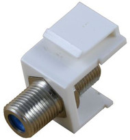 White 3GHz F-Type Feed Through Keystone Module (CA-2210WH)