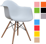Retro Eames Style Bistro Chair With Arms in Various Colours - OUT OF STOCK