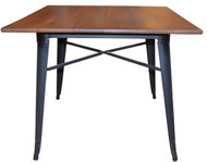 Bistro Metal Table with Mvuli top