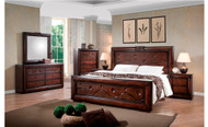 Gloria Queen Bed with 2 Bedside Cabinets