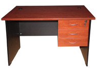 Cosmo Desk with 3 Drawer 1200*750 in Red Apple