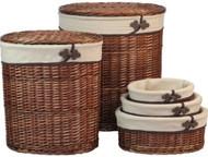 Willow Laundry Baskets (Set of 5pcs)