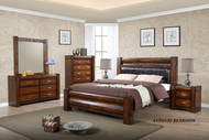 Antonio Queen Bed with 2 Bedside Cabinets - OUT OF STOCK