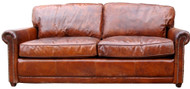 Hemmingway Sofa In Leather (Vegetable Brown) - OUT OF STOCK