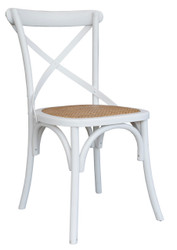 Allan Bistro Chair in White - OUT OF STOCK
