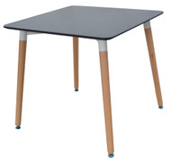 Retro Bistro Table in Black 0.8m x 0.8m - OUT OF STOCK