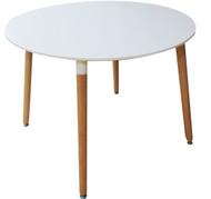 Retro Bistro Round Table In White