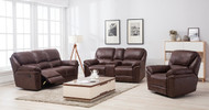 Jersey 7 Seater Recliner in Brown - OUT OF STOCK