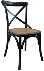Allan Bistro Chair in Black