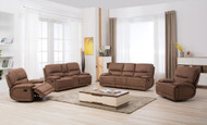 Apollo 6 Seater Recliner in Mocha T017