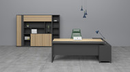 Big Apple Managers Desk In Elm - OUT OF STOCK
