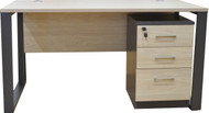Staten Desk With Mobile Drw Ped In Elm 1.4m x 0.7m