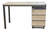 Staten Desk With Fixed Drawers In Elm 1.2m x 0.6m - OUT OF STOCK