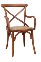 Allan Bistro Chair With Arms in Brown