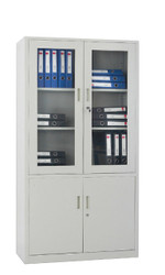 HiLine Clear Door Filing Cabinet