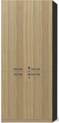 Brooklyn 2 Wooden Doors Cabinet in Brown Oak