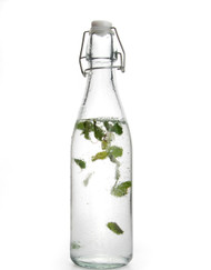 Retro Clear Glass Water Bottle With Clip Lid 500ml