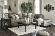 Calicho L Shaped Sofa Set in Cashmere Fabric - OUT OF STOCK