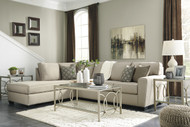 Calicho L Shaped Sofa Set in Ecru Fabric - OUT OF STOCK