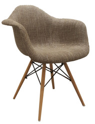 Eames Replica Chair With Arms in Beige  - OUT OF STOCK