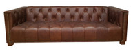 Chesterfield 5 Seater Sofa Set in Vintage Bark Leather