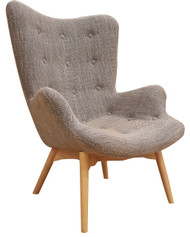Grant Featherston Replica Lounge Chair in Beige - OUT OF STOCK